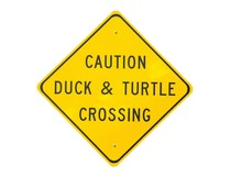 Duck And Turtle Crossing Sign