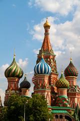 Fototapeta na wymiar The Cathedral of Saint Basil the Blessed or simply Pokrovskiy Ca