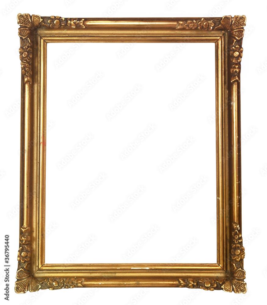 Fototapeta cadre baroque ancien doré