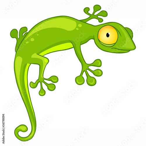 Obraz na płótnie Cartoon Character Lizard