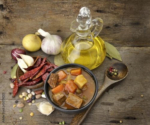 Fotografie, Obraz  Beef Soup With Vegetables