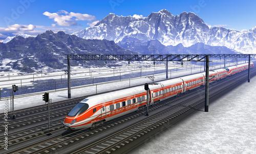 dworzec-kolejowy-z-pociagiem-w-gorach