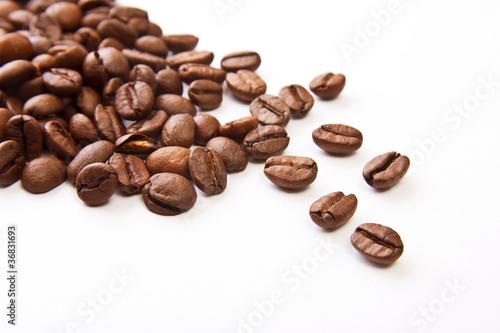 Staande foto Koffiebonen granos de café