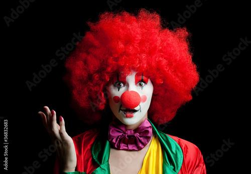 Photo  colorful clown