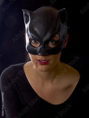 Photographie catwoman frau jung sexy verführerisch