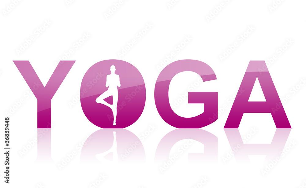 Doppelrollo mit Motiv - Yoga Logo Violett