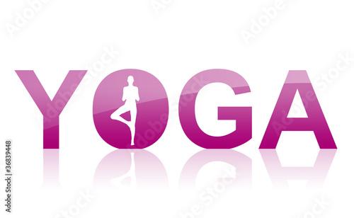 Akustikstoff - Yoga Logo Violett (von styleuneed)