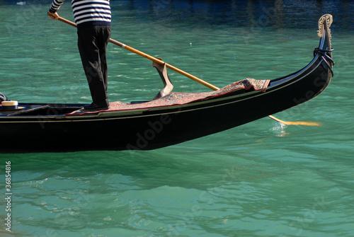 Türaufkleber Gondeln Gondola con gondoliere remo Venezia Mare Laguna