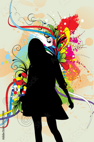 Fototapety, obrazy: women shape vector design