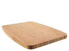 Holzschneidebrett Isoliert Auf Weißem Hintergrund