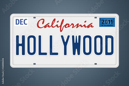 Photo  CA Nummernschild Hollywood