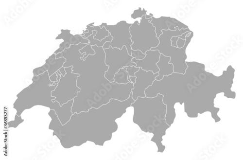 Fotografie, Obraz  Map of Swizerland