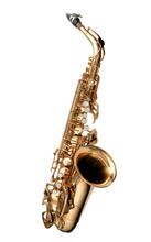 Saxophone Jazz Instrument Isolated