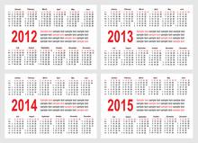 Calendar 2012-1215 Year