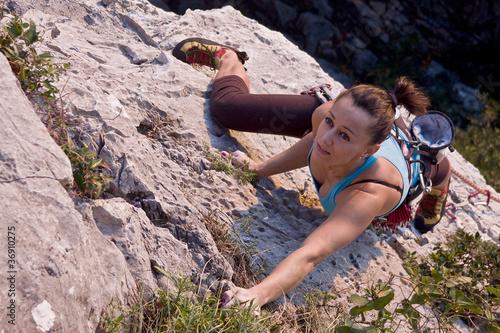 Foto op Plexiglas Alpinisme free climber