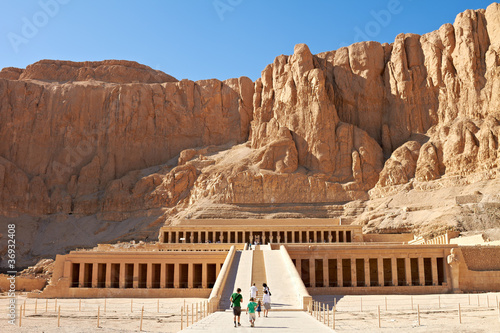 Spoed Foto op Canvas Egypte Temple of Queen Hatshepsut