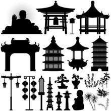 Chinese Asian Temple Building ...