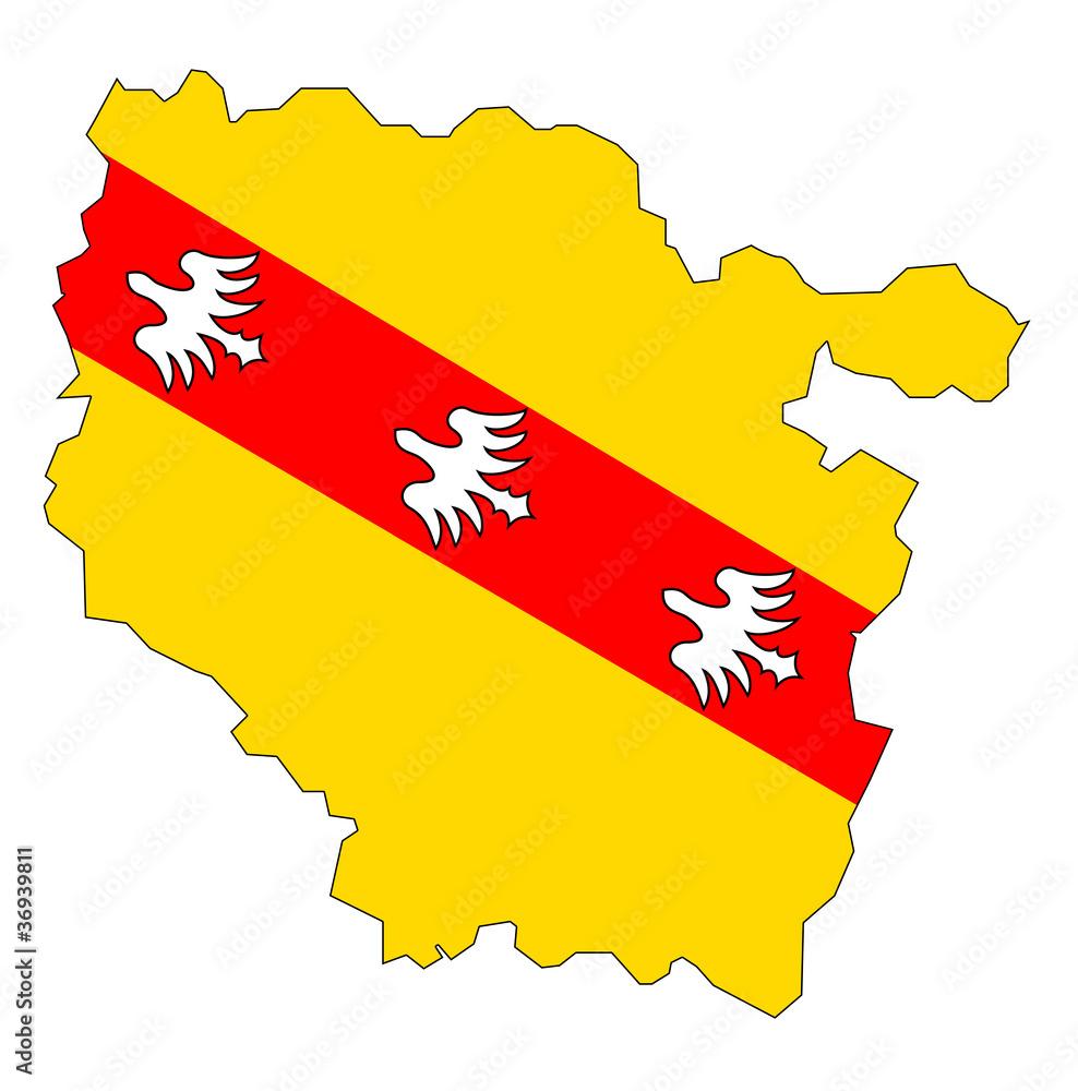 Lothringen Karte.Karte Mit Flagge Von Lothringen Foto Poster Wandbilder Bei