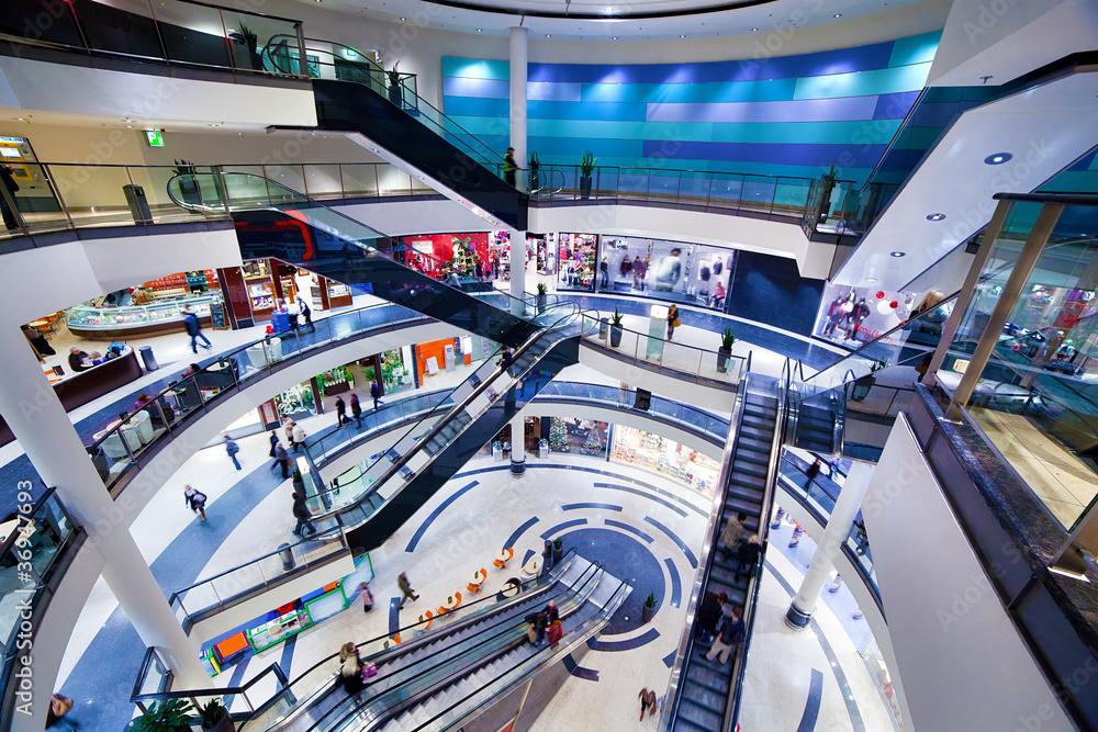 Fototapeta Modern shopping mall interior