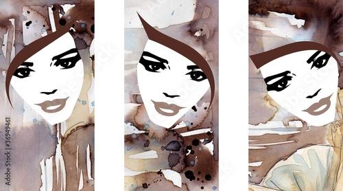 trzy portrety kobiet