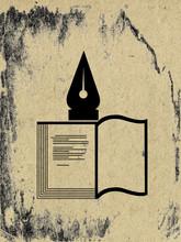 Book Allegory On Grunge Background