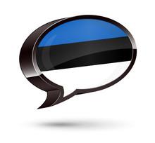 """""""Estonian-Speaking"""" 3D Speech Bubble"""
