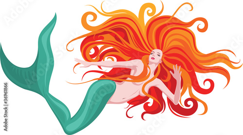 red-haired mermaid