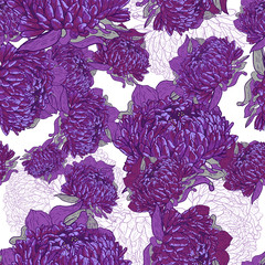 Fototapeta Purple floral pattern