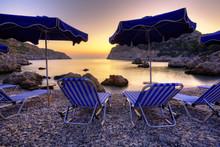Wschód Słońca W Grecji. Fot...