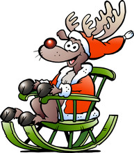 Hand-drawn Vector Illustration Of An Reindeer