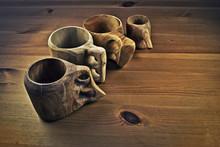 Wooden Coffee Cups Or Guksi
