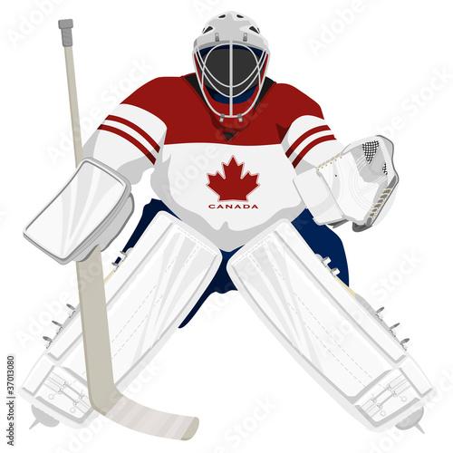 Fotografía Team Canada hockey goalie