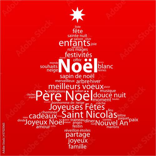 Nuage De Tags Noel Arbre Sapin Noël Carte Voeux Père Cadeaux