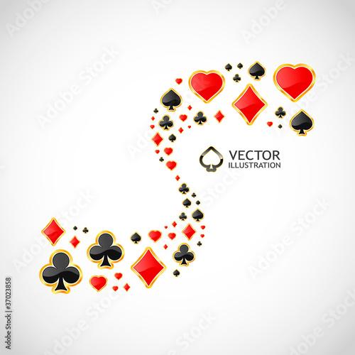 Photo  Vector gambling composition. Abstract illustration.