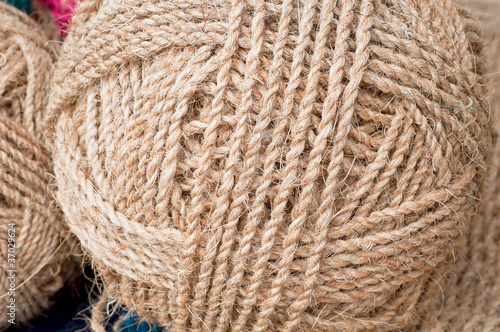 rope from coconut coir fiber - Buy this stock photo and