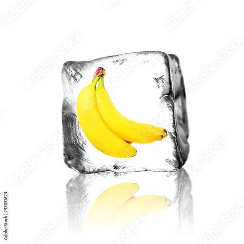 Poster Dans la glace Banane