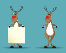 Set Of Reindeers