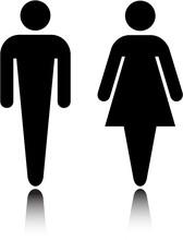 Elegant, Simple Restroom Symbol