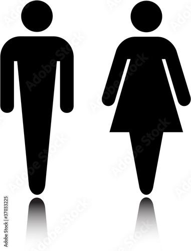 Fotografía  Elegant, simple restroom symbol