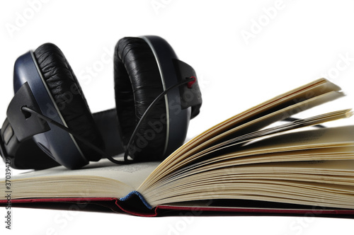 Photo  Audiobook isolated on white