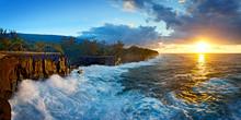 Lever De Soleil Sur Les Falaises Du Cap Méchant