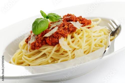 Fotografie, Obraz  Spaghetti Bolognese mit Parmesan