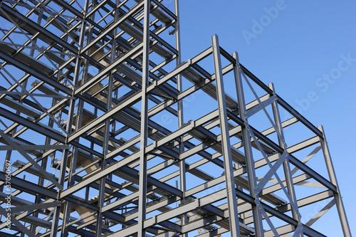 Construction Steel Framework Canvas Print