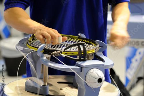 Fotografiet  Cordage raquette tennis 2