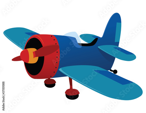 Fotobehang Vliegtuigen, ballon Aeroplane