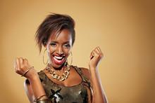 Jubelnde Afrikanerin