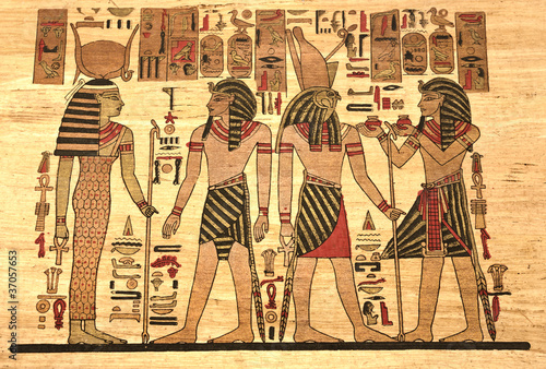 egypt-papyrus-with-elements-most-prominent-of-the-antique-egypt