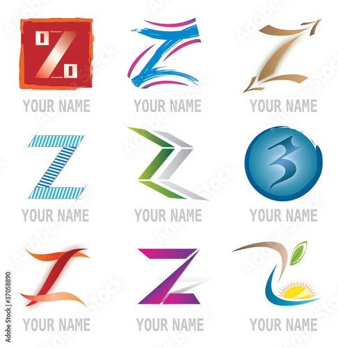 Photo  Ensemble d'Icones Lettre Z pour Design Logos