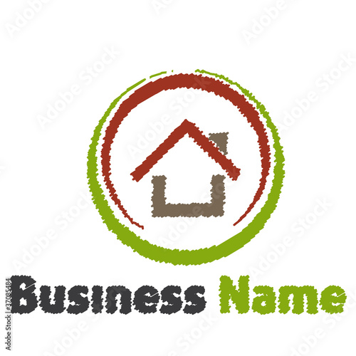 Fototapeta logo maison obraz na płótnie
