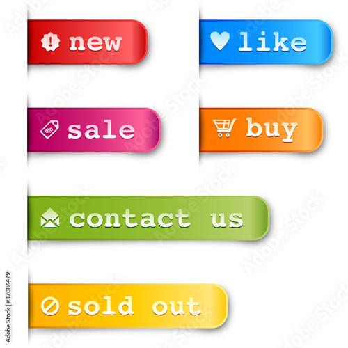 Fotografie, Obraz  shopping Labels